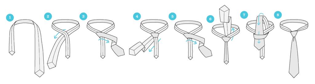 How to tie a tie?  6 ways to tie a tie 5