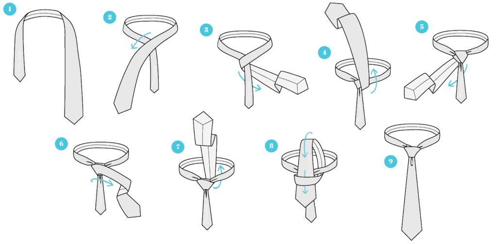 Jak zawiązać krawat? 6 sposobów wiązania krawata 2