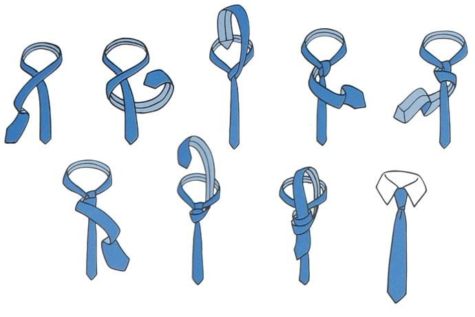 How to tie a tie?  6 ways to tie a tie 3