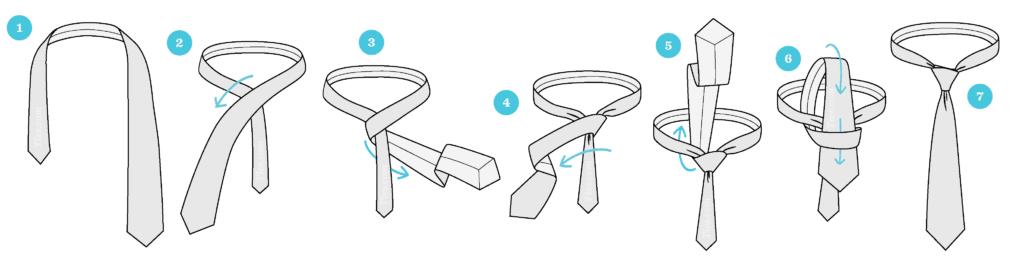 Jak zawiązać krawat? 6 sposobów wiązania krawata 1